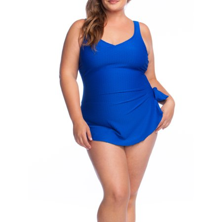 Maxine Maxine of Hollywood Swimsuits, Chlorine Resistant, Polyester Swimsuit - Cobalt Textured Size: (Chlorine Resistant Swim Suits)