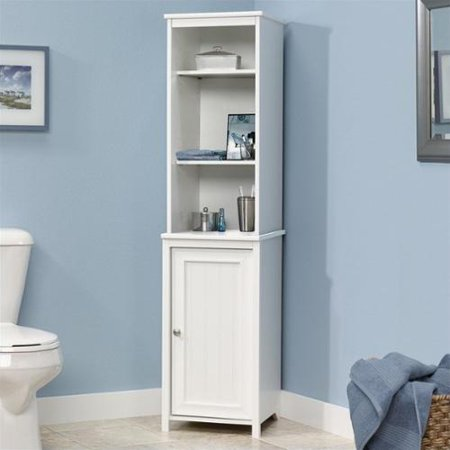 Sauder Caraway Linen Tower in Soft White