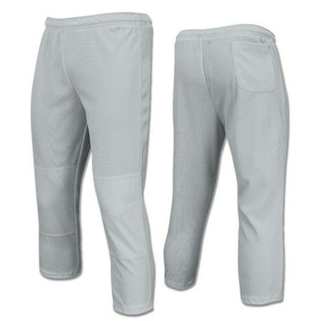 It A Boy Baseball - Champro Value Pull-Up Boys Baseball Pant, Grey, Size X-Small