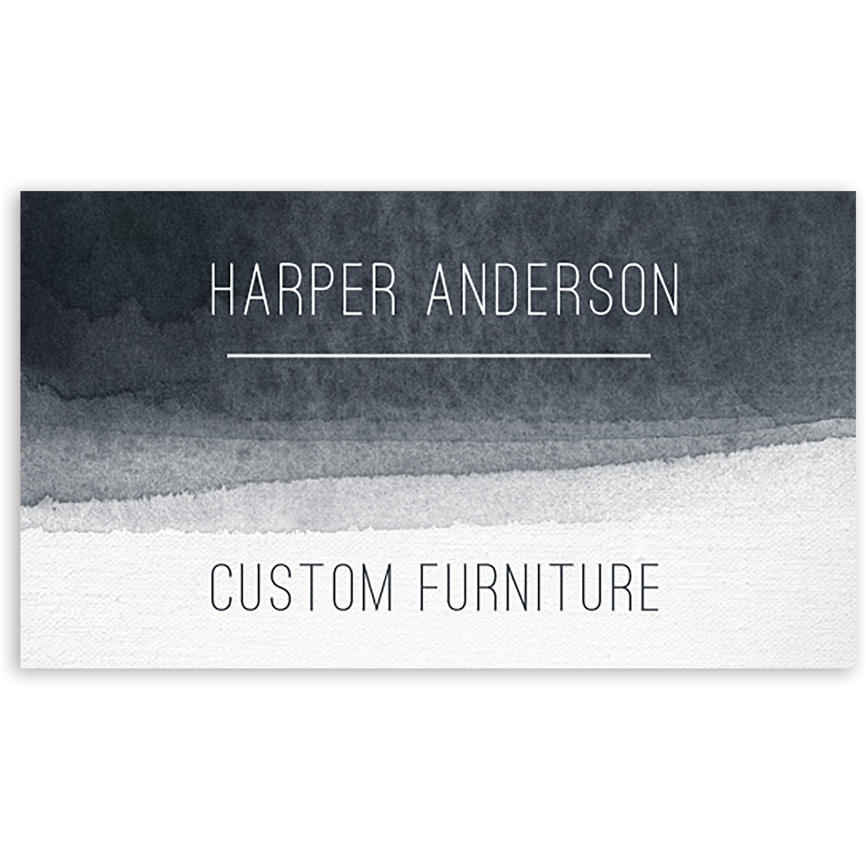 Aqua Tones - Personalized 3.5 x 2 Business Card