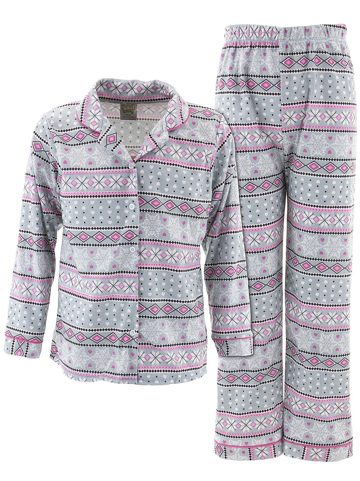 Sweet N Sassy Girls Nordic Gray Coat-Style Pajamas