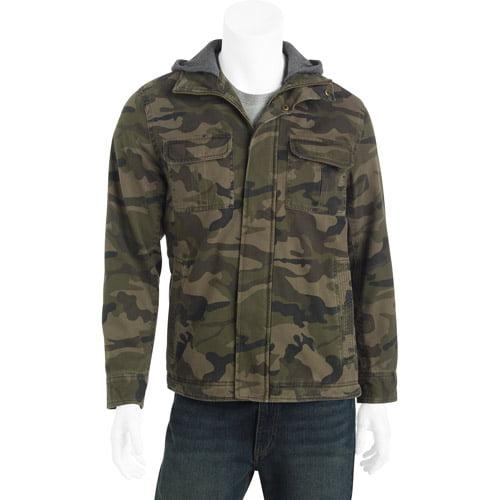 Faded Glory Big Men's Cotton jacket with Detachable Hood