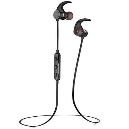 Bluetooth Headphones, AWEI Best Smart Magnet Switch Wireless Sports Earphones w/Mic IPX4 Waterproof HD Stereo Sweatproof (The Best Sport Headphones)