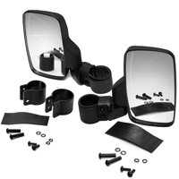 OxGord UTV Side View Mirror - Pair of 2 Mirrors for Passenger and Driver - High Impact Shatter-Proof Tempered Glass