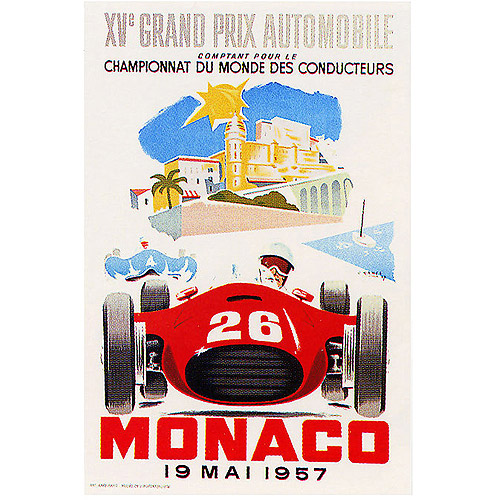 "Trademark Fine Art ""Monaco 1957 II"" Canvas Art by George Ham, 18x24"