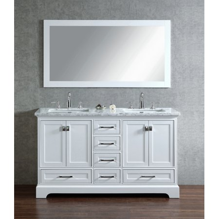 Excellent Stufurhome Newport White 60 Inch Double Sink Bathroom Vanity Download Free Architecture Designs Barepgrimeyleaguecom