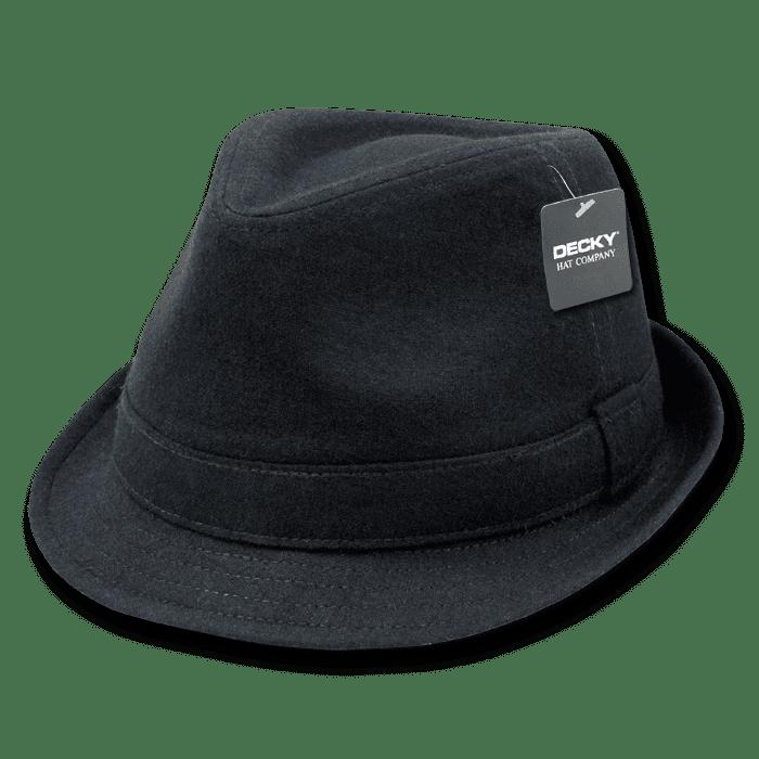 Pinstripe Fedora Hat Black//White 12 Pack Small//Medium Decky
