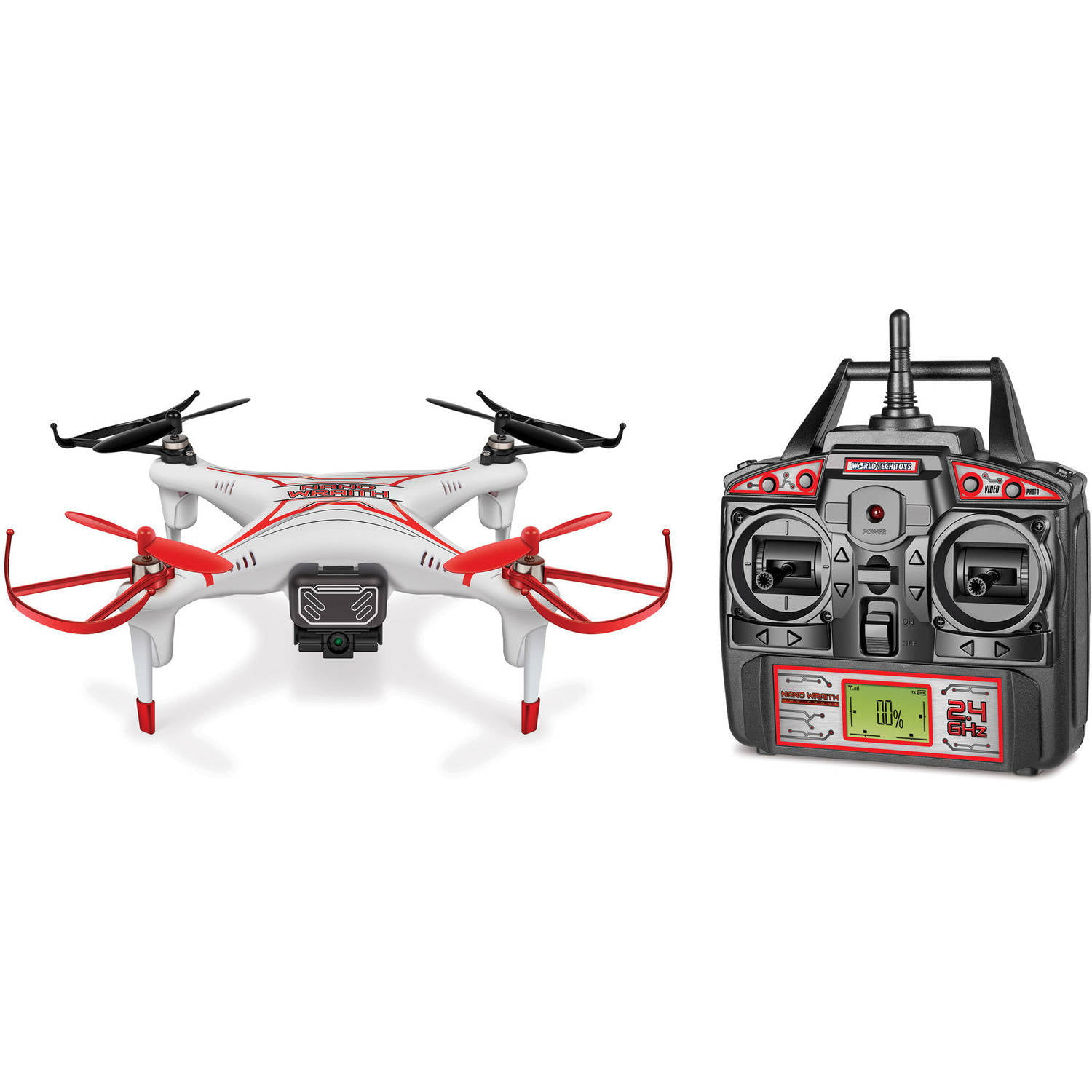 Nano Wraith SPY Drone 4.5-Channel Video Camera 2.4GHz R C Quadcopter by WORLD TECH ELITE