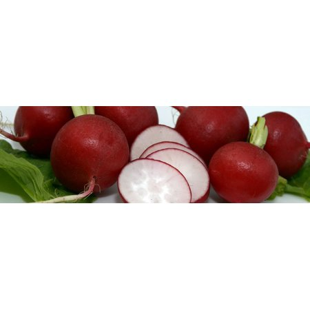 Canvas Print Vegetables Frisch Healthy Food Red Eat Radishes Stretched Canvas 10 x 14