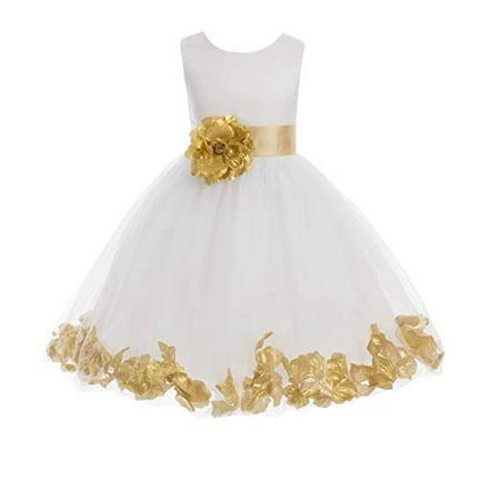 214dedb64 Ekidsbridal Ivory Tulle Rose Petals Formal Flower Girl Dresses Toddler Girl  Dresses Pageant Dresses Wedding Tulle