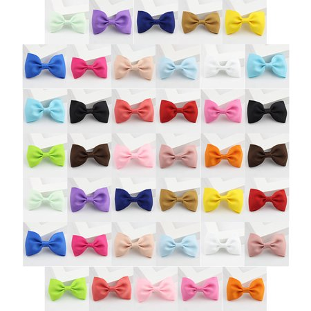 40Pcs Hair Clips, Coxeer Ribbon Simple Bow Claw Clips Hair Barrettes Hair Pins Hair Accessories for Baby Girls Kids Teens Toddlers Children](Halloween Fall Hair Bows)