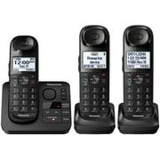 Panasonic Black Cordless Phone with 3 Handsets and Answering Machine