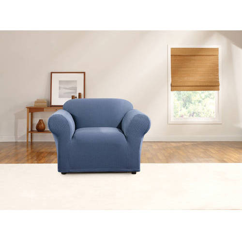 Sure Fit Simple Stretch Ticking Stripe 1-Piece Chair