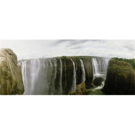 Panoramic Images PPI48302L Water falling into a river  Victoria Falls  Zimbabwe  Africa Poster Print by Panoramic Images - 36 x