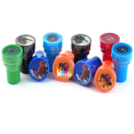 12pcs Marvel's Spider-Man Stamps Stampers Self-inking Birthday Party Favors
