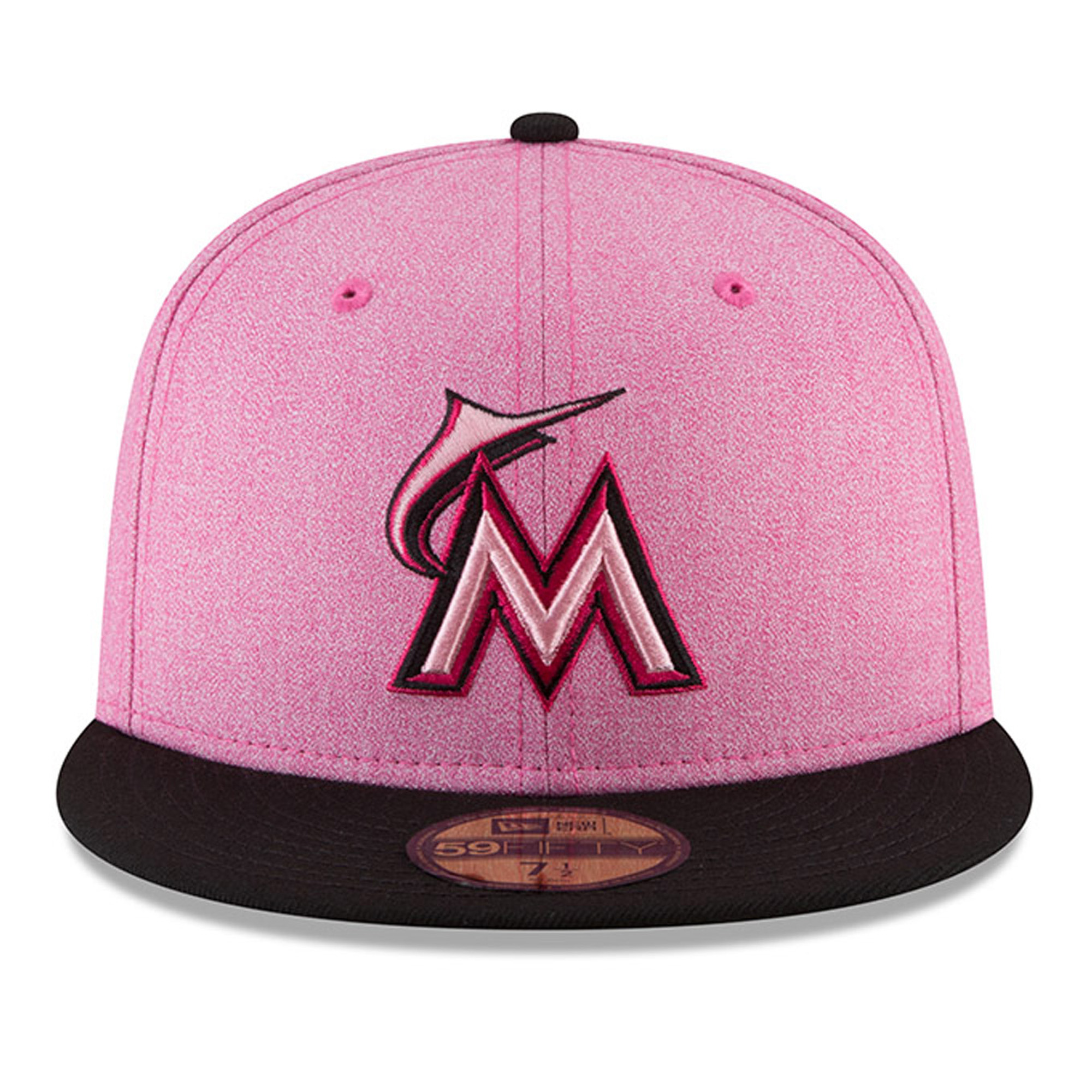 Miami Marlins New Era 2018 Mother s Day On-Field 59FIFTY Fitted Hat ... 3b3671cffe1