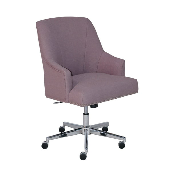Serta Style Leighton Home Office Chair Lilac Twill Fabric Walmart Com Walmart Com