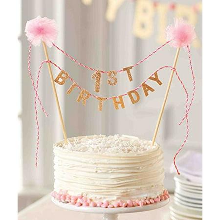 Marvelous Mud Pie First Birthday Cake Topper Walmart Com Walmart Com Personalised Birthday Cards Paralily Jamesorg