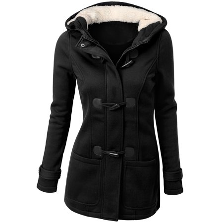 Ninexis Womens Toggle Hooded & Double Breasted Trench Coat ()