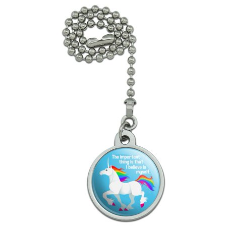 Unicorn The Important Thing is That I Believe in Myself Ceiling Fan and Light Pull Chain