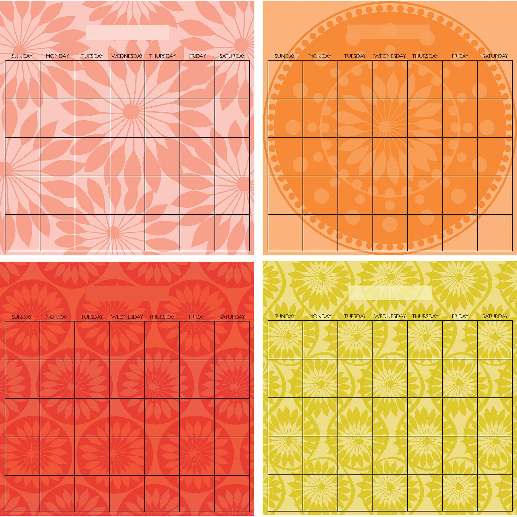 WallPops Carnivalé Dry-erase 4 Piece Calendar Set