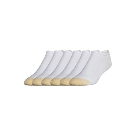 Gold Toe Men's Full Cushion Cotton No Show Socks, 6 Pairs (Gold Toe Rayon)