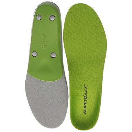 Superfeet GREEN Insoles, Professional-Grade High Arch Orthotic Insert for Maximum Support, Unisex, Green](Greek Arch)
