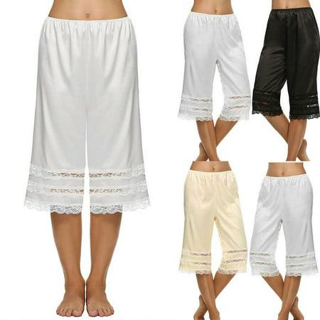 Mini Skirt Skort Shorts - Women Silk Lace Safety Short Pants Skirt Under Briefs Shorts Slips Pettipants