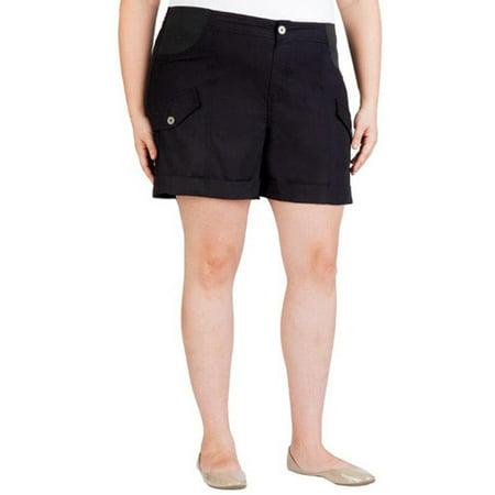 bf1cea3148 Faded Glory - Women's Plus-Size Cuffed Cargo Shorts - Walmart.com