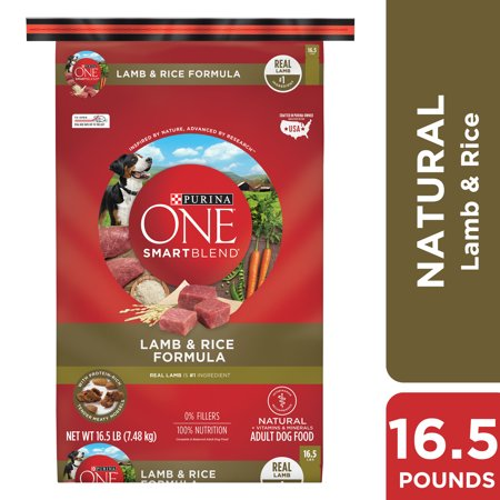 Purina ONE Natural Dry Dog Food, SmartBlend Lamb & Rice Formula - 16.5 lb. Bag (Purina One Rice)