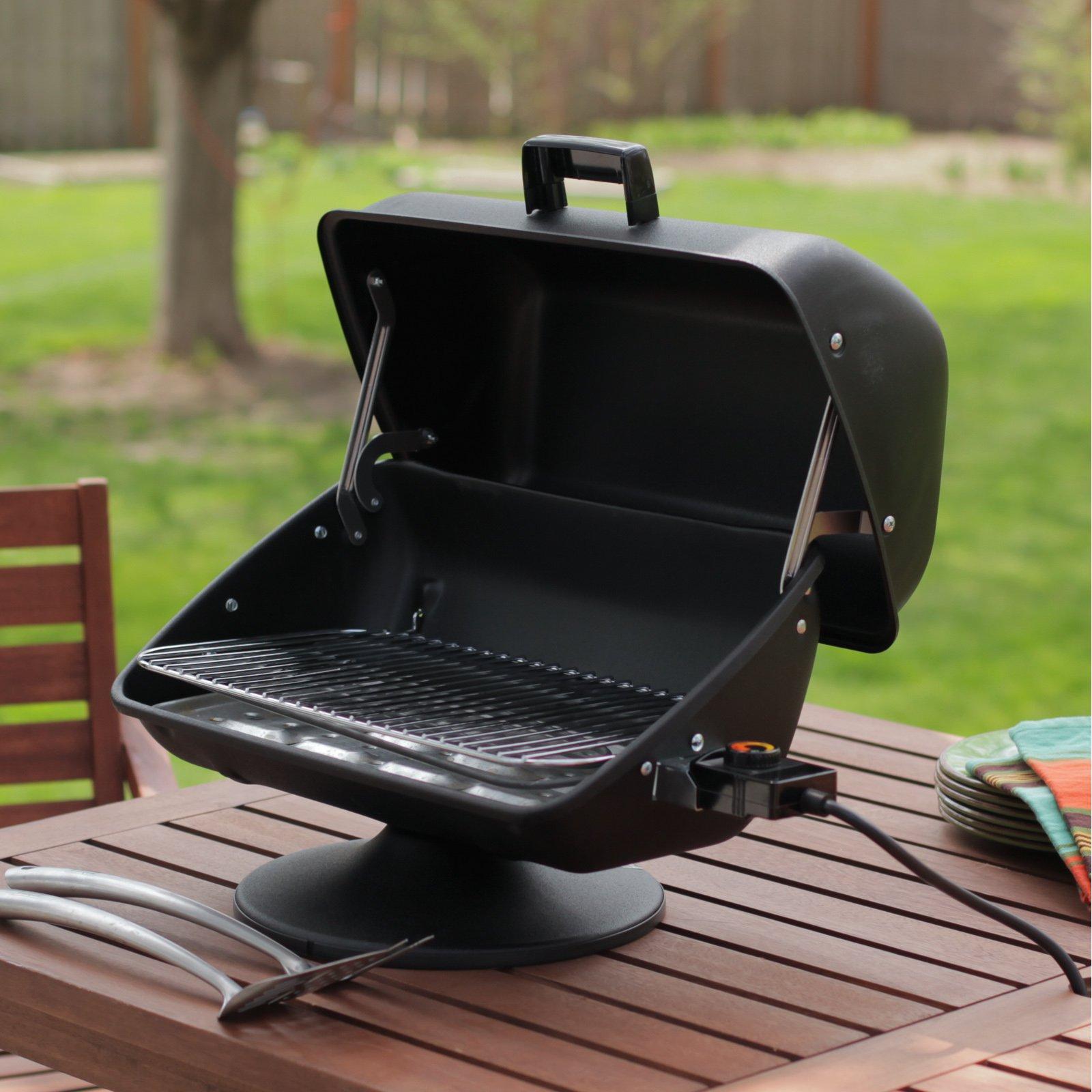 Meco easy street 1500 watt apartment condo backyard rv electric table top outdoor bbq grill walmart com