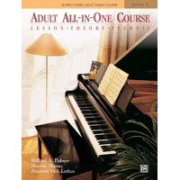 Alfred's Basic Adult Piano Course: Alfred's Basic Adult All-In-One Course, Bk 1: Lesson * Theory * Technic, Comb Bound Book (Other)