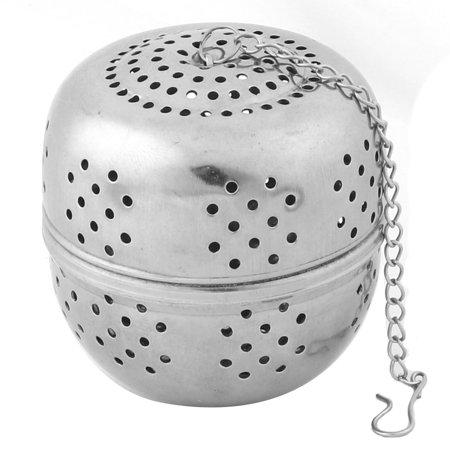 Restaurant Kitchen Household Stainless Steel Tea Ball Strainer Infuser Silver Tone