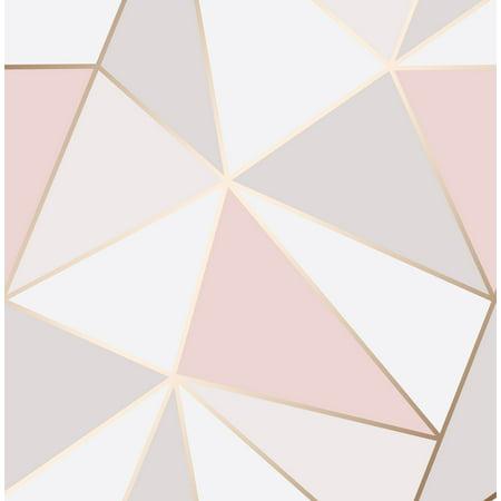 Fine Décor Arken Rose Gold Geometric (Orange Geometric Wallpaper)