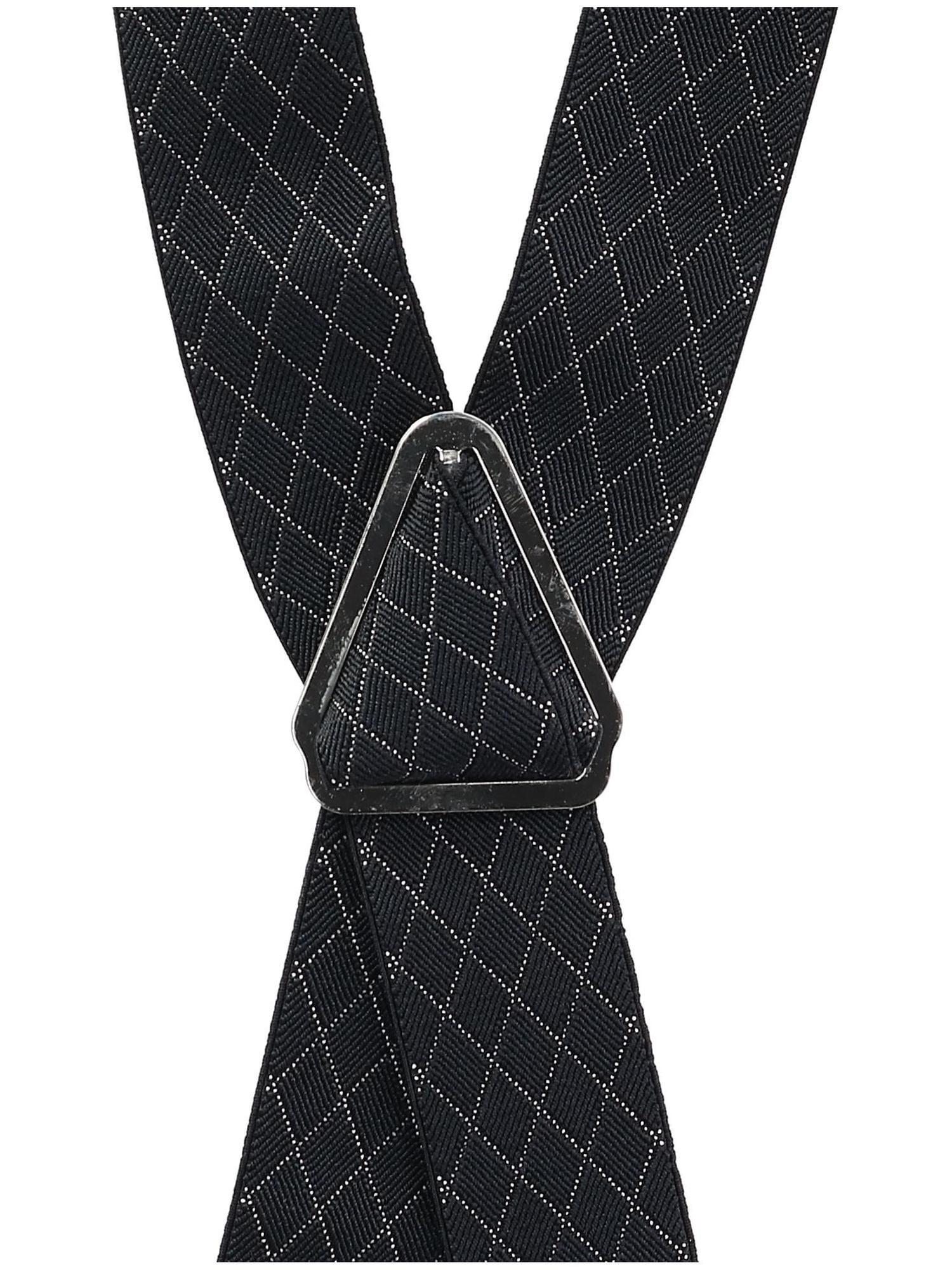 Ascentix Mens Elastic Tropical Print Dress Suspenders with Clip-Ends