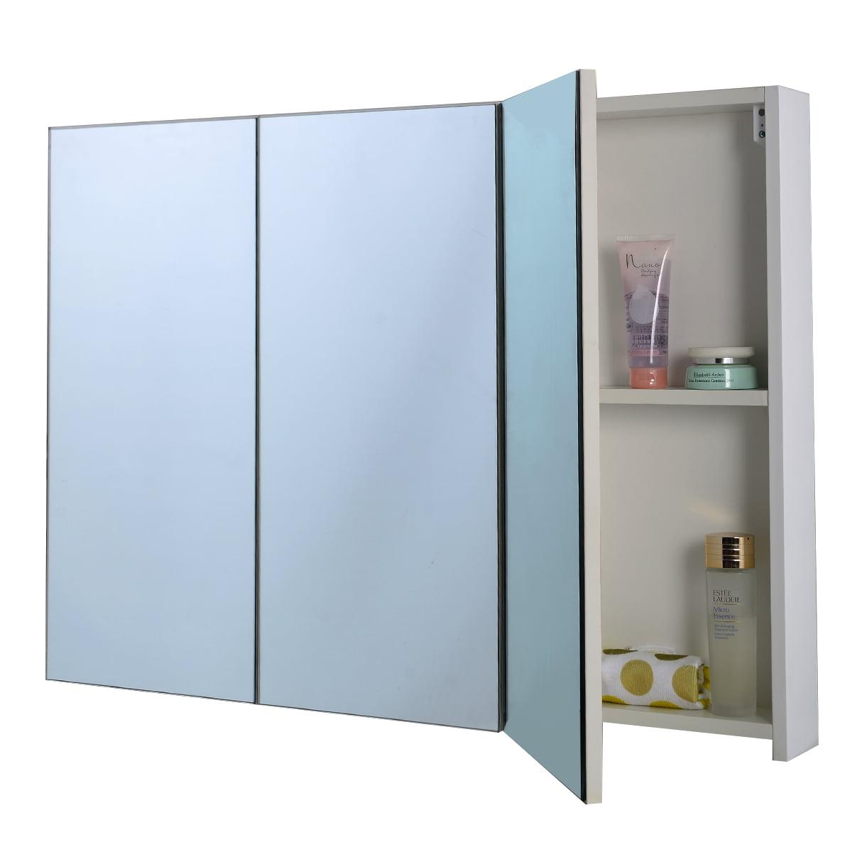 Costway 36 Wide Wall Mount Mirrored Bathroom Medicine