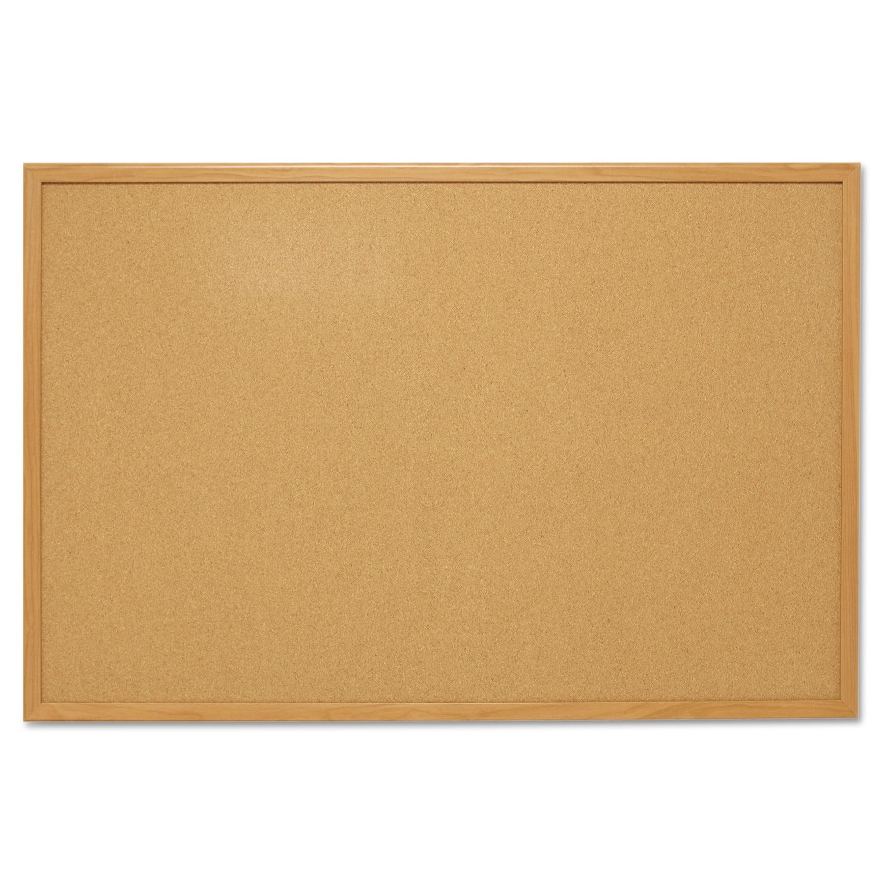 Mead Cork Bulletin Board, 4' x 3', Oak Frame (S774) by MEAD PRODUCTS