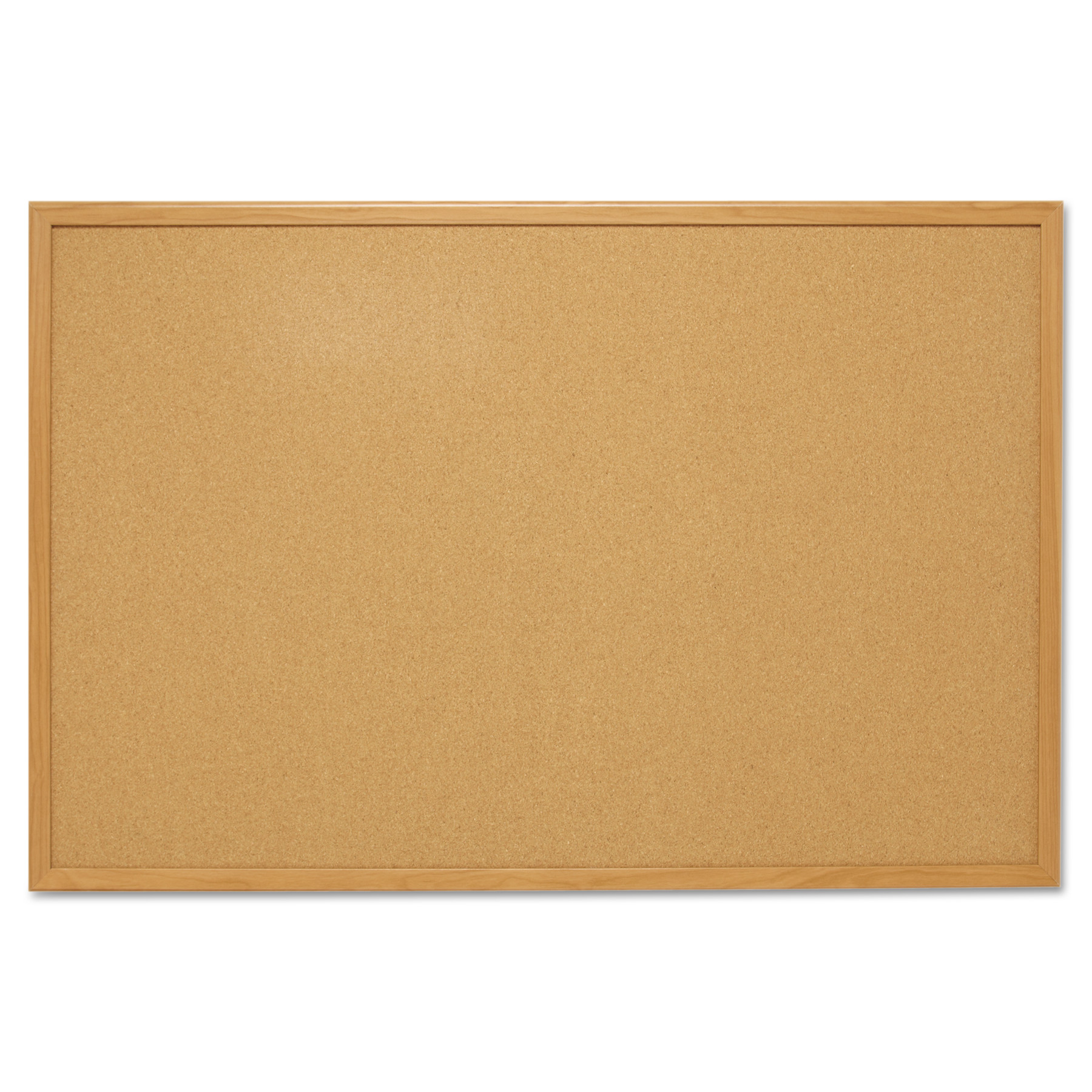 Mead Cork Bulletin Board, 4' x 3', Oak Frame (S774)