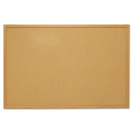 Mead Cork Bulletin Board 4 X 3 Oak Frame S774 Walmartcom