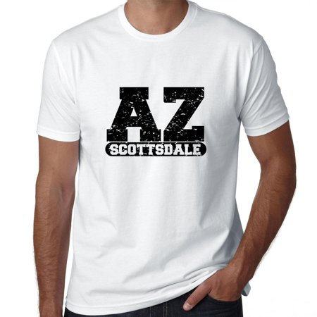 Scottsdale, Arizona AZ Classic City State Sign Men's T-Shirt - Party City Scottsdale Az