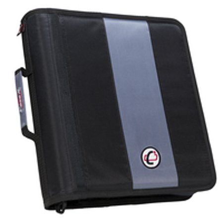 Case-It Classic O-Ring Zipper Binder, 13 x 12 x 3 Inches, Black, 2 (3 Ring Binder Zipper)