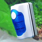 Magnetic Aquarium Fish Tank Glass Scraper Cleaner Floating Algae Brush S