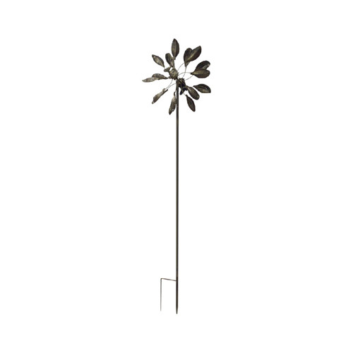 Classic Gifts and Decor Oval Leaf Windmill Garden Stake by