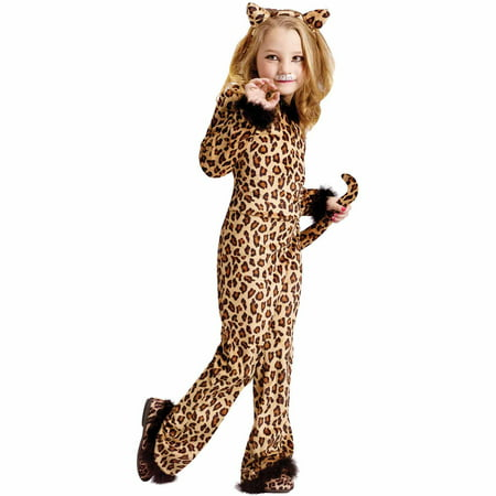 Pretty Leopard Child Halloween Costume - Leopard Halloween Hair