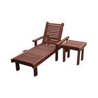 Sun Mission Brown Redwood Outdoor Chaise Lounge