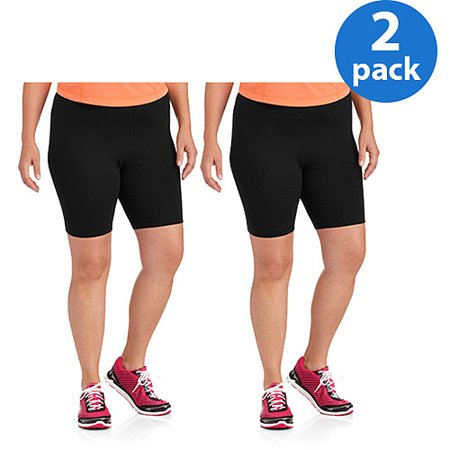 Danskin Now Women;s Plus-Size Bike Shorts 2pk Value Bundle