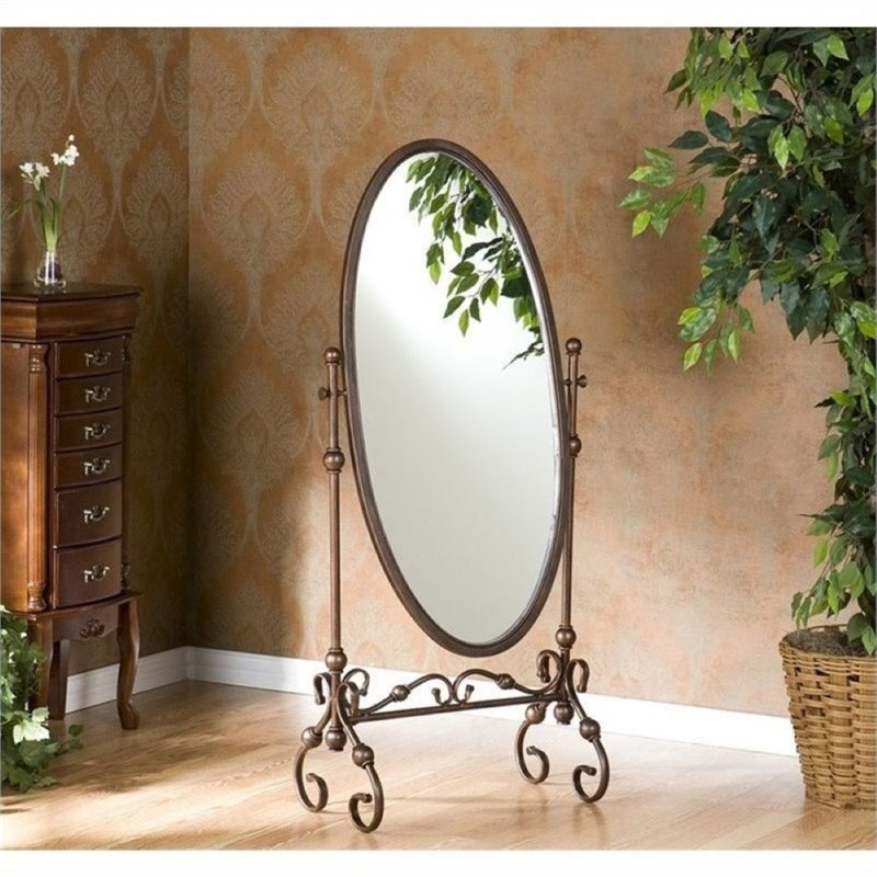 Bowery Hill Cheval Mirror in Antique Bronze by Bowery Hill