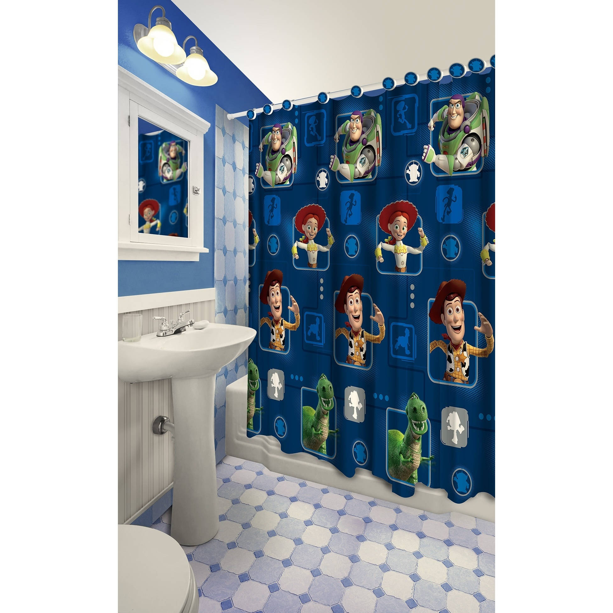Disney Junior Mickey Mouse Clubhouse Mickey Mouse 13 Piece Shower ...