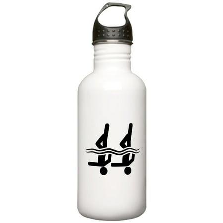 CafePress - Synchronized Swimming Stainless Water Bottle 1 - Stainless Steel Water Bottle, Sports Bottle, (Swim Gear Store)
