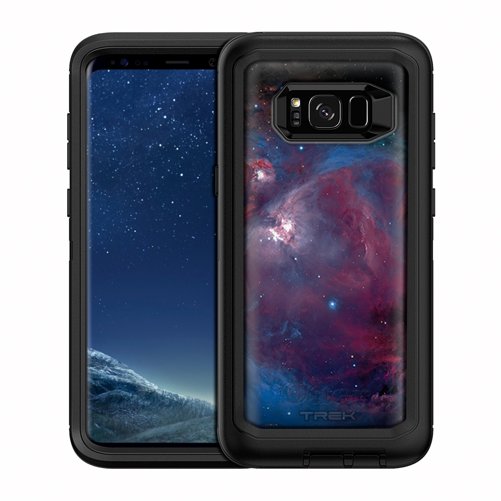 SKIN DECAL FOR OtterBox Defender Samsung Galaxy S8 Plus Case - Nebula Blue Pink DECAL, NOT A CASE